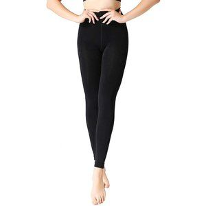Black Footless Tights Opaque Control Top LRG 2Pair